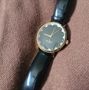 Kate Spade Scallop Black Metro Watch